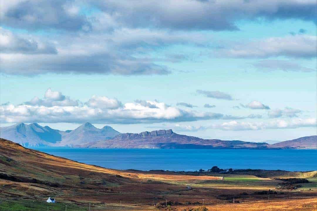 Oh Scotland! Your west coast never fails to surprise me. This is the view of Rum and Eigg from the Ardnamurchan Penisula. Do you have a favourite surprise view? #scotspirit #smallisles #greatbritain #letsgo #omgb #travelbloggers #scotland #favouriteview #lochaber #ardnamurchan #visitscotland #iloveardgour #ig_scotland #scottishhighland #scotlandsbeauty #bbcbritain #photosofbritain #photosofscotland #photosofbritain #capturing_britain #britain #explore #visitgreatbritain #bbcbritain #bbcscotlandpics #guardiantravelsnaps #landscape #travelbloggers #travelwithintention