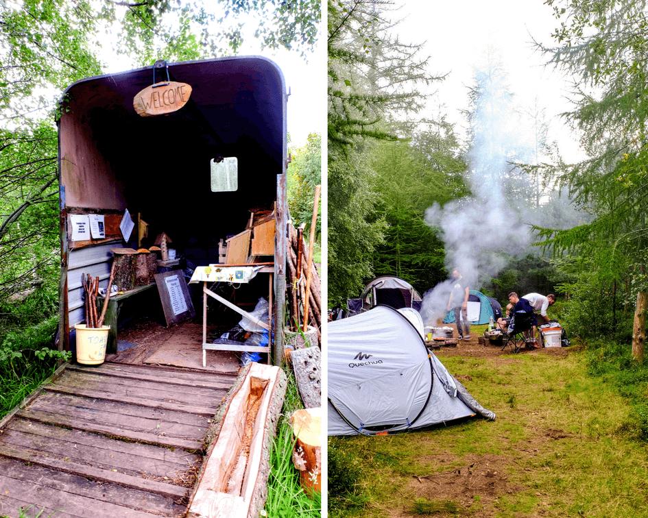 Camping at Blinkbonny Wood