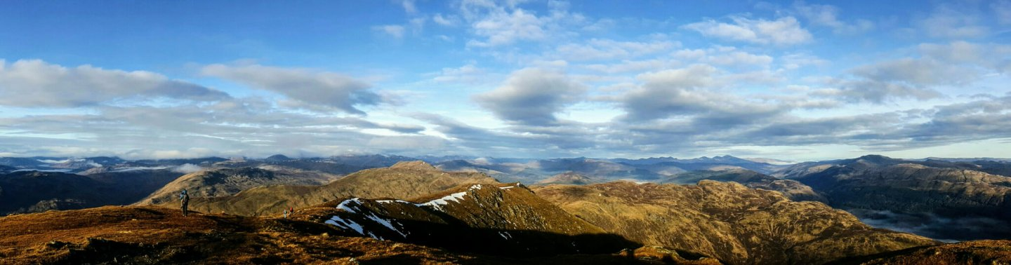 the trossachs Hillwalking in Scotland