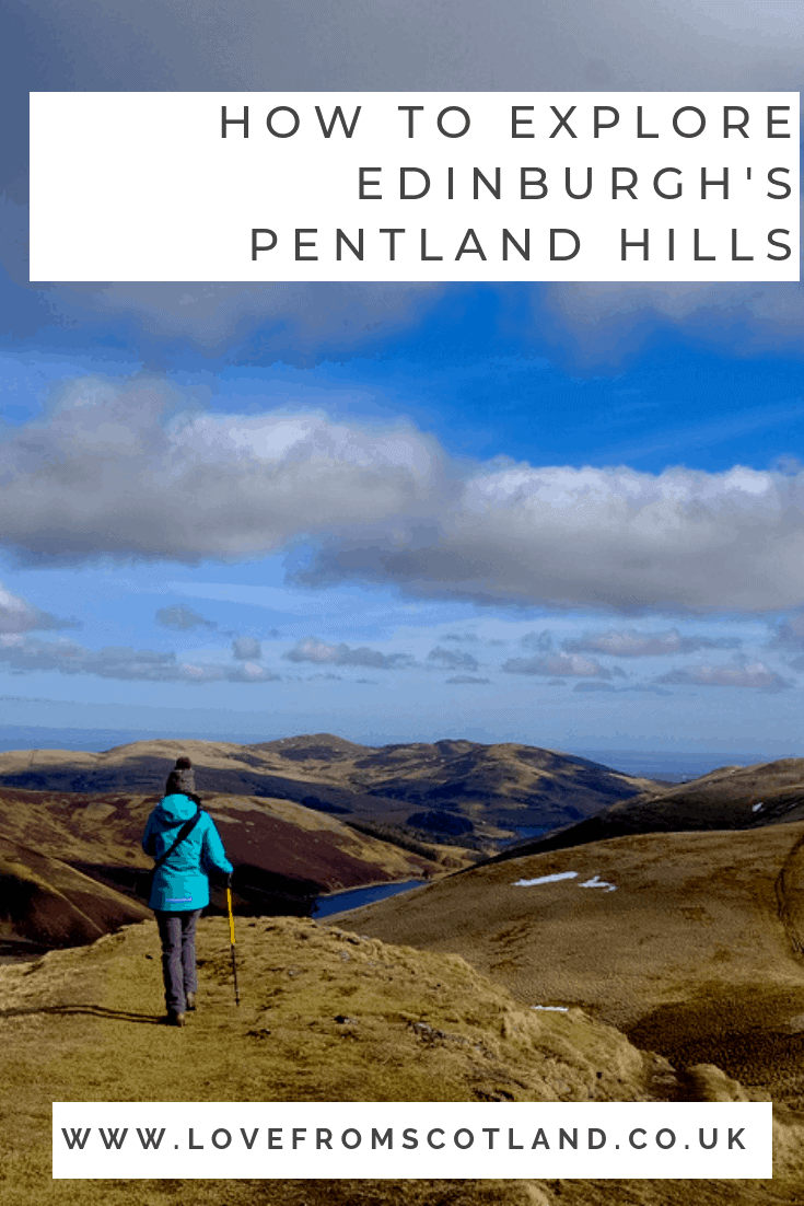 The Pentland Hills just to the south of Edinburgh are perfect for a day out in the hills without having to travel to the highlands of Scotland.