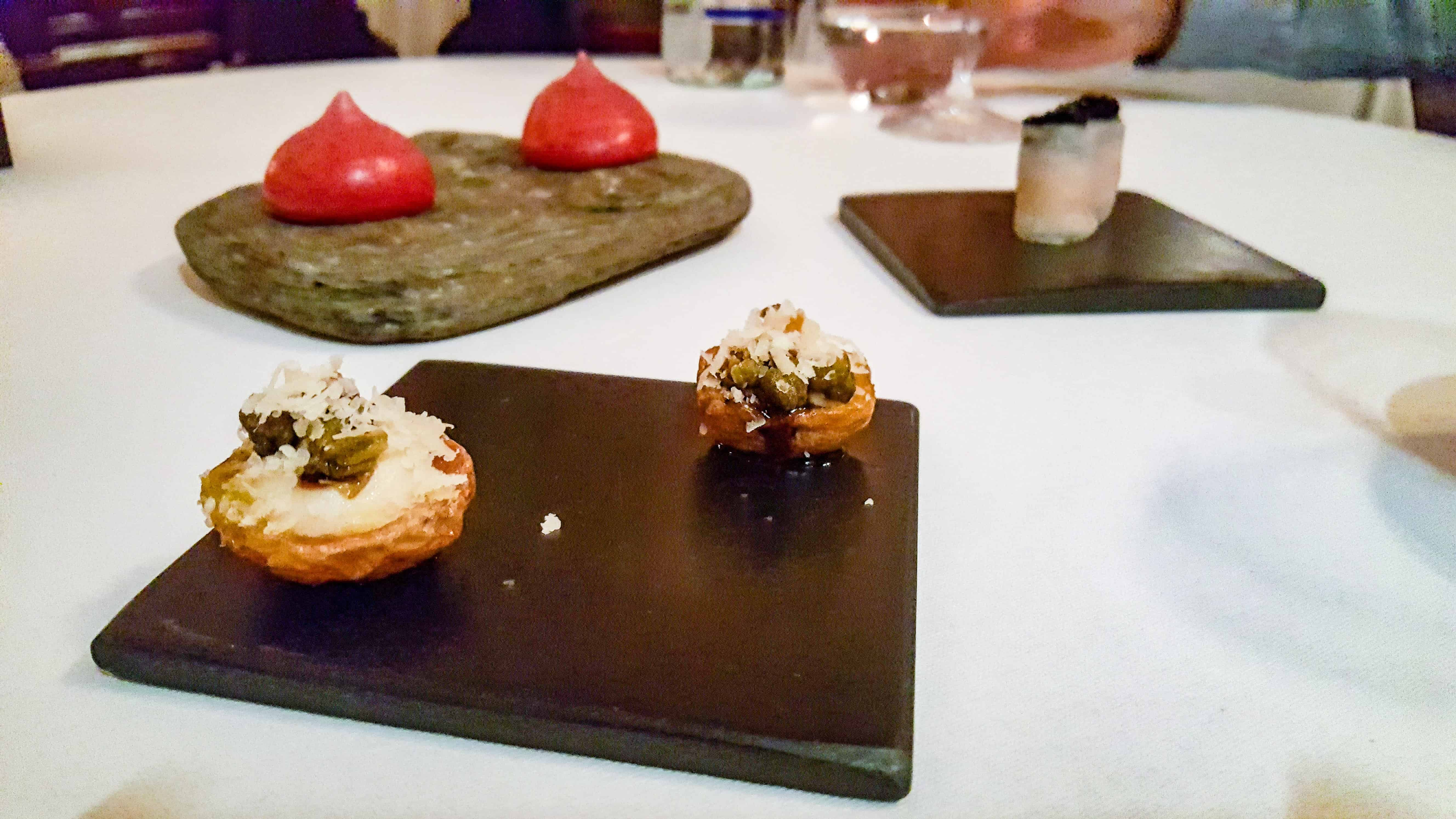 Tasting menu Torridon Hotel Scotland
