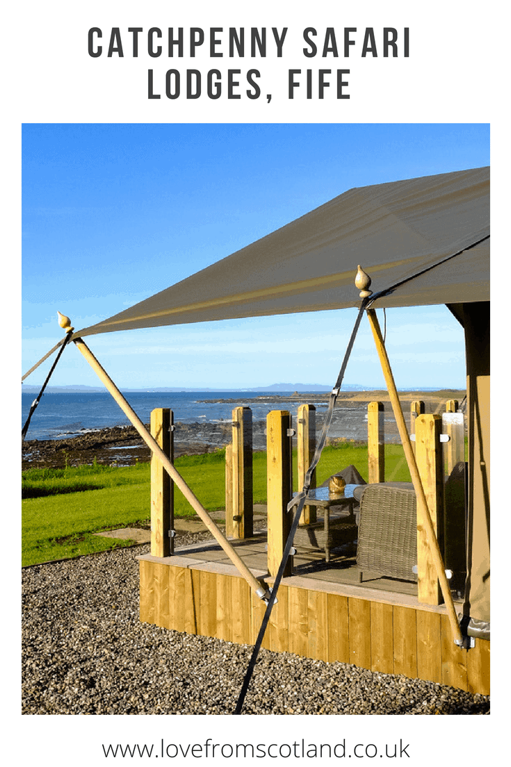 Looking for glamping in Scotland? Let's check in to Catchpenny Safari Lodges - 8 luxury glamping tents perched out on the coast between Elie and St Monans in the East Neuk of Fife.
