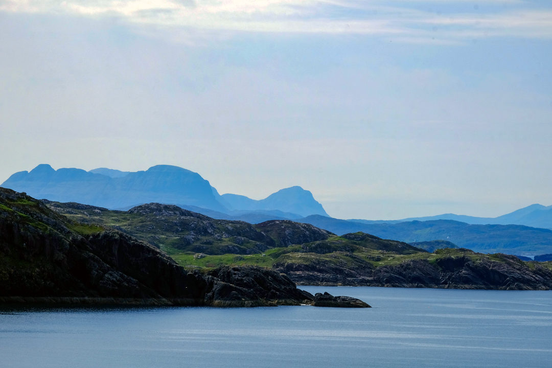 Assynt Mountains from Handa Island
