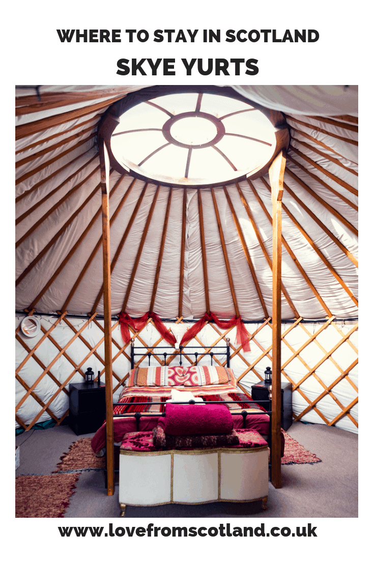 The best accommodation in the 'garden of Skye'? A glamping yurt, of course! Like camping? You will love Skye Yurts.