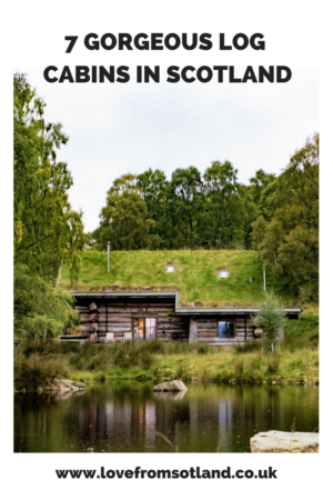 From a low impact eco treehouse to a luxurious woodshed, here are seven log cabins in Scotland which make a perfect retreat from the world.