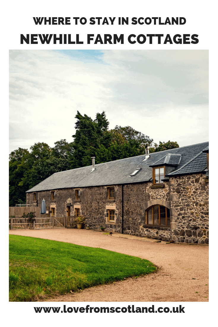 Offering up accommodation for fourteen across three self-catering cottages, Newhill Farm is more than a place to just rest your head, with a swimming pool, hot tub(s) and games room – it's your own mini resort in the Scottish countryside!