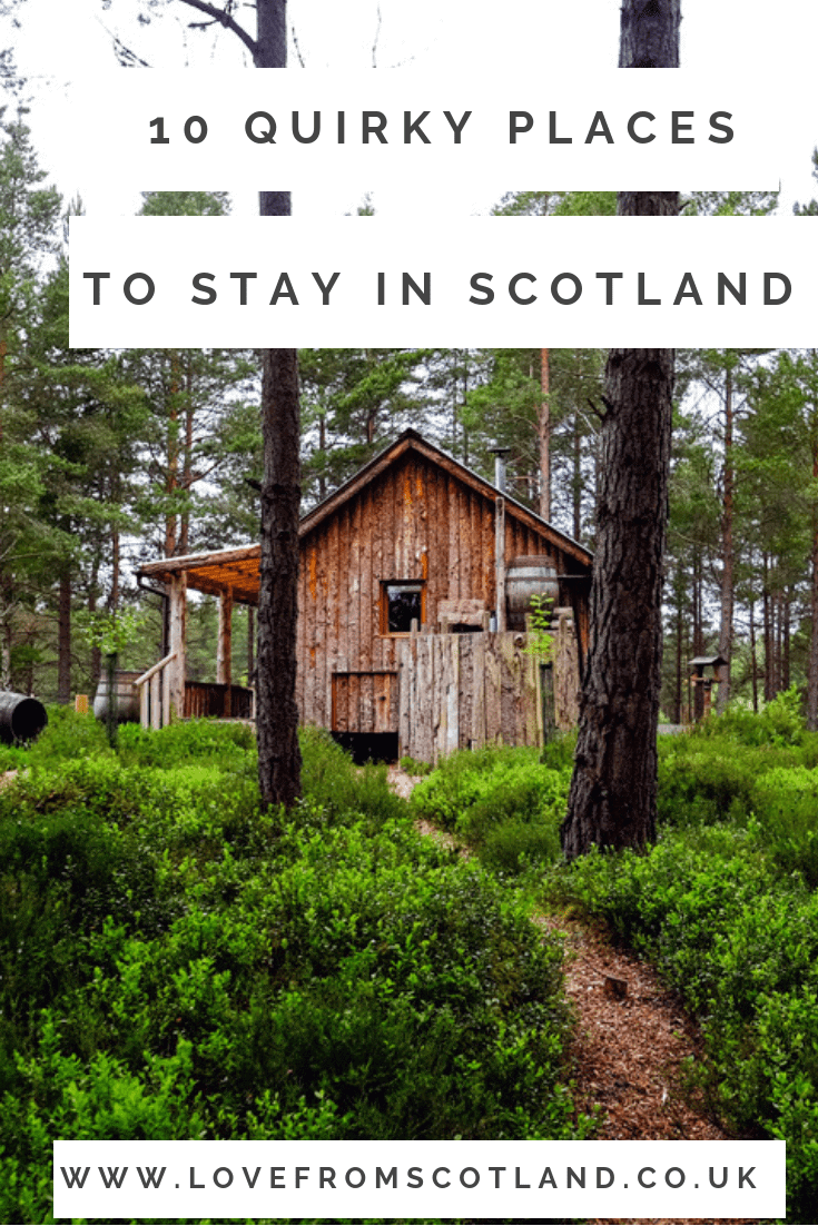 Looking for fab places to stay in Scotland? From a family farm stay to a quirky tree lodge, here are the best places to stay in Scotland.