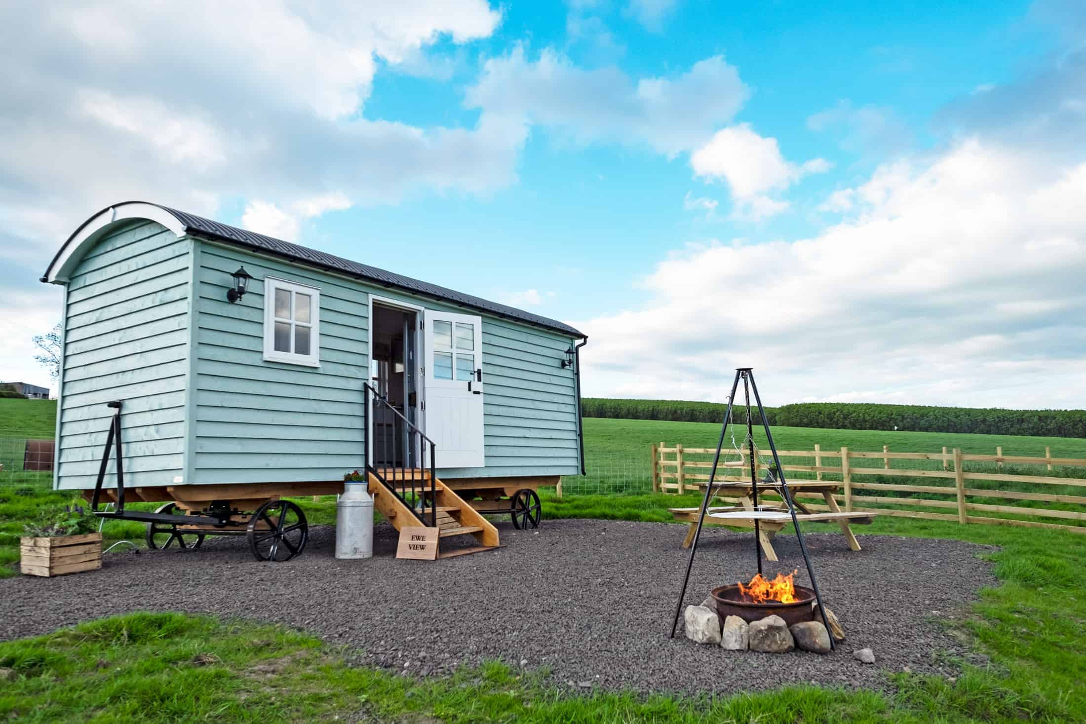 Farm stay scotland, Craigduckie Shepherds Huts