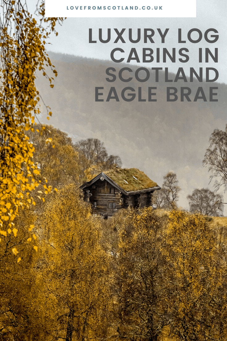 In an ancient Caledonian forest, beside two of Scotland's most beautiful glens, are the luxurious log cabins of Eagle Brae.