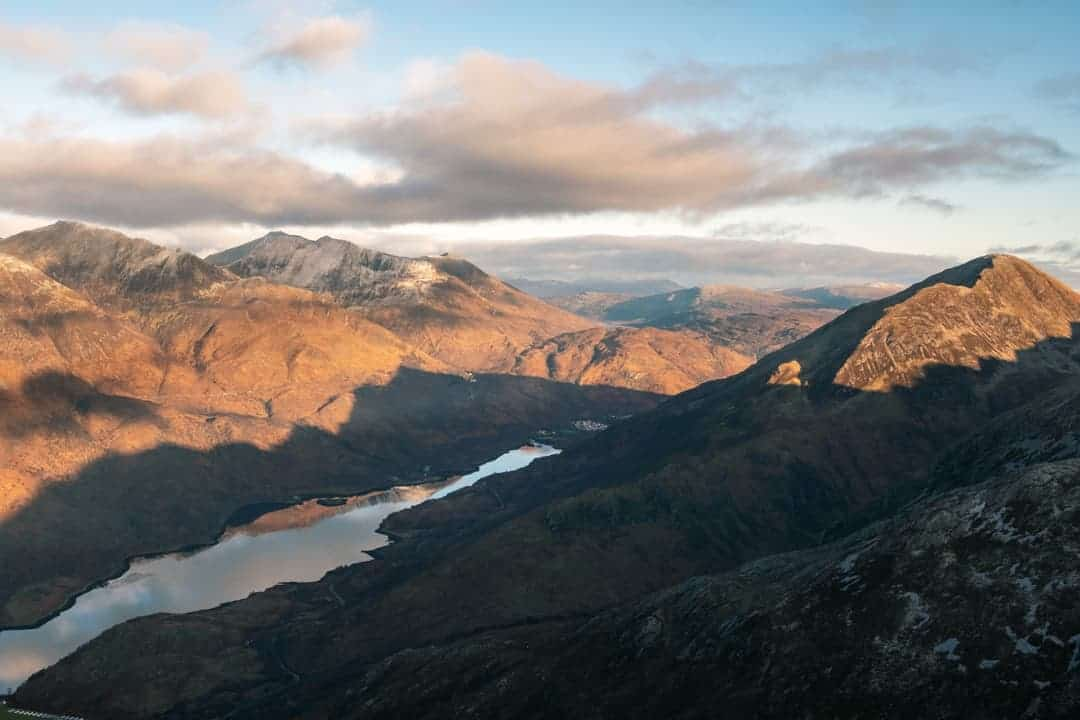 View to Kinlochleven from The Pap of Glencoe Hike