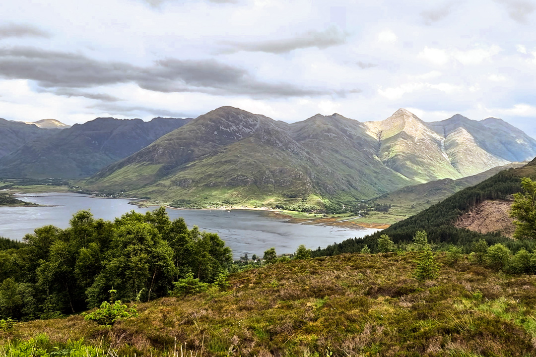 Five Sisters of Kintail from Mam Ratagan Pass