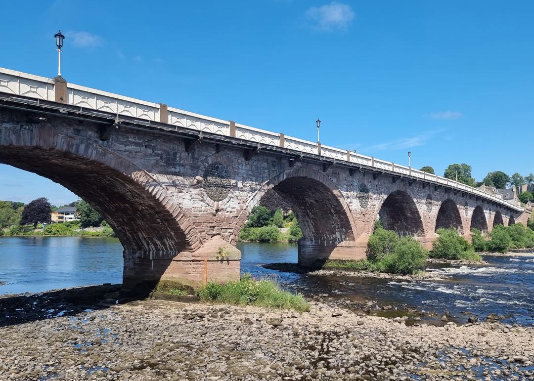 Bridge over the River Tay, Perth Scotland